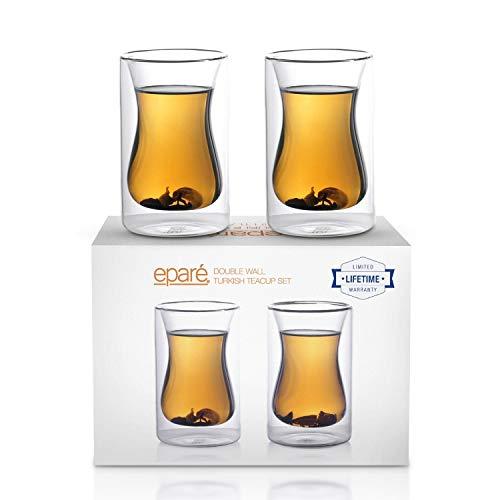 Eparé 175 ml Isoliertes Teeglas (2er Set) - Doppelwandige Trinkgläser Thermobecher für...