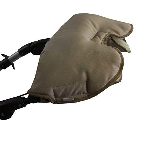 BAMBINIWELT universaler Muff/Handwärmer für Kinderwagen, Buggy, Jogger mit Wolle, UNI (cappuchino)