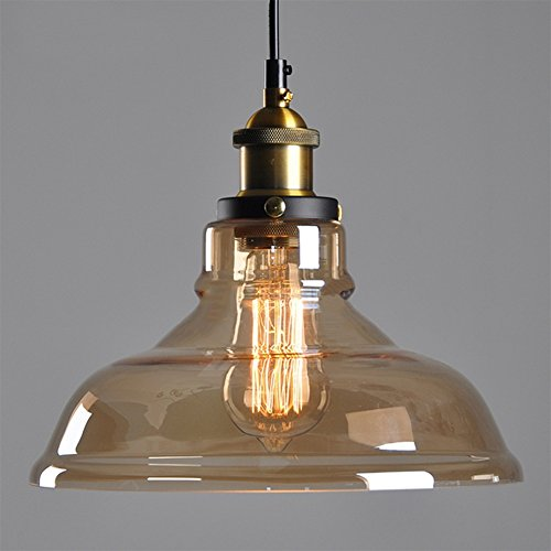 Retro lamp shades amazon amber glass shade ceiling chandelier fitting vintage retro pendant lamp shade e27 screw lamp base just lamp shade excluding light bulb aloadofball Gallery