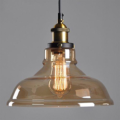 Vintage Retro Edison Bernstein Glasschirm Deckenleuchter-hängende Lampen-Licht-E27 Cap 220V nach Hause Innen ohne Glühlampen Dekorative
