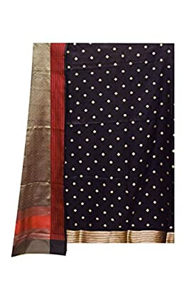 Silk Suit Dupatta Black colour