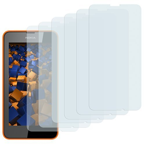 mumbi Schutzfolie kompatibel mit Nokia Lumia 630 / 635 Folie klar, Bildschirmschutzfolie (6x)