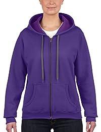Gildan Gildan Ladies' Vintage Full Zip Hooded Sweatshirt /18700fl - Pull à capuche - Femme