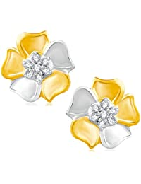 V. K. Jewels Stud Earrings for Women (Gold)(vker1685g)