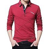 Herren T-Shirt, Frühling Beiläufig Mode Lange Ärmeln Revers Taste Baumwolle Geschäft Büro draußen beiläufig Retro weich Mode Formal Tops Bluse