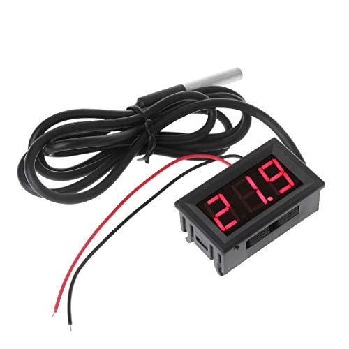 "Nysunshine0.56""DS18B20 Digital Thermometer wasserdichter Temperatursensor Probe DC 12V 24V"