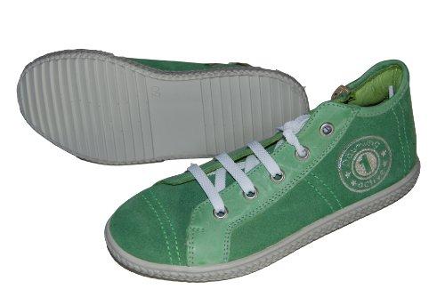 Däumling Kinderschuhe, Sneaker für Jungen, Lederschuhe grün (Turino gras)