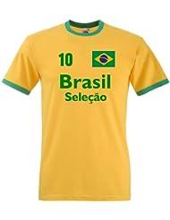 Brasilien Herren T-Shirt Brasil Seleçao Retro Trikot