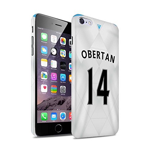 Offiziell Newcastle United FC Hülle / Glanz Snap-On Case für Apple iPhone 6+/Plus 5.5 / Pack 29pcs Muster / NUFC Trikot Away 15/16 Kollektion Obertan