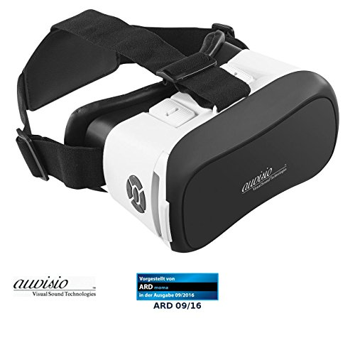 auvisio 3D Brille: Virtual-Reality-Brille mit Bluetooth, Magnetschalter und 42-mm-Linsen (VR Brille...