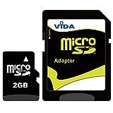 Vida IT Nouva 2GB Micro SD Scheda di Memoria per Il Cellulare ZTE - F951 - F952 - Flash - FTV Phone Tablet PCS - Garanzia a Vita Limitata - con Adattatore SD