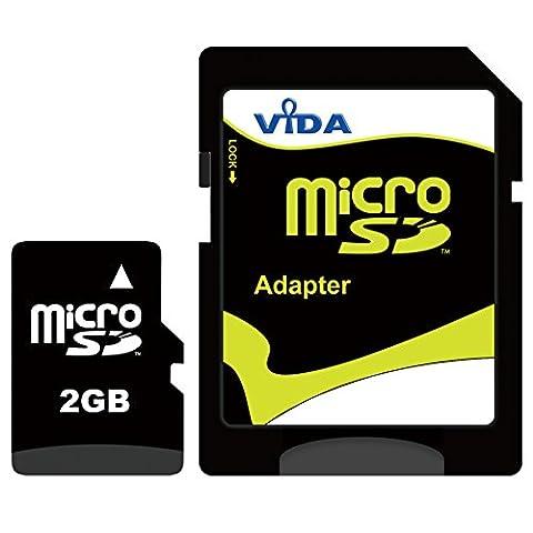 Nouvelle Vida IT 2Go Carte mémoire Micro SD pour Sony Ericsson - Xperia pro - Xperia ray - Xperia X1 - Xperia X10 Téléphone mobile - Tablette PC - Garantie à vie