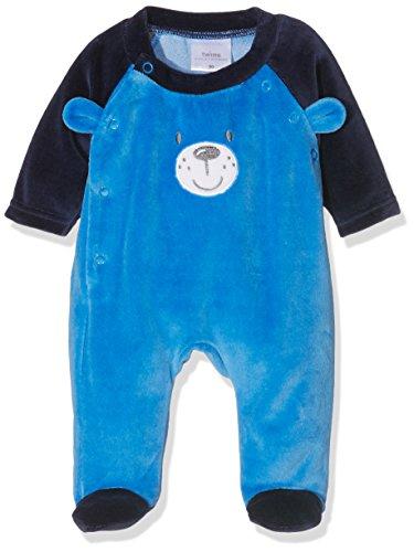 Twin 17 (Twins Baby-Jungen Schlafstrampler aus Velours Teddybär, Mehrfarbig (mehrfarbig 3200), 12-18 Monate (Herstellergröße: 86))