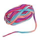 perfk 100g Textilgarn zum Häkeln und Stricken, Jerseygarn Häkelfaden Polyester für Handwerk DIY Projekte - 14