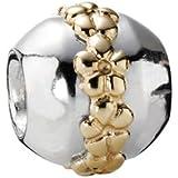 Pandora Damen-Bead  Sterling-Silber 925 Kugel mit Blumen KASI 79179