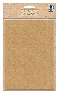 Ursus 90700000 - Tarjetas de felicitación (200 Sobres, 100 g/m2, cartón, 6 Unidades), Color marrón