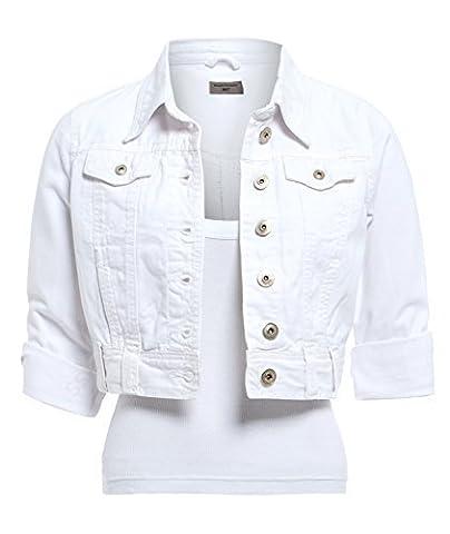SS7 nouveau femmes blanc Veste En Jeans, Size 6 - 16 - Blanc, 36
