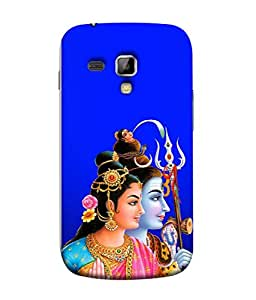 PrintVisa Designer Back Case Cover for Samsung Galaxy S Duos S7582 (lord shiv with goddess parvati)