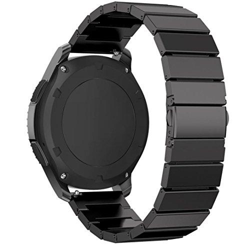 Bande pour Samsung Gear S3, Malloom® Bracelet en acier inoxydable Montre intelligente Sangle