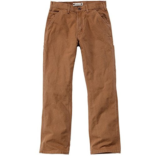 Duck Work Pant (Carhartt Washed Duck Work Dungaree Hose 31 Braun L34)