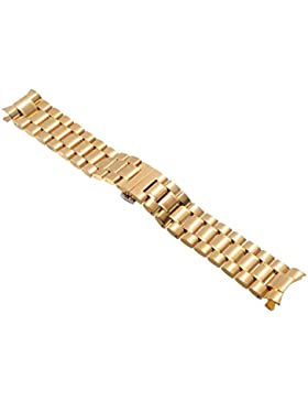 20mm Herren Damen Gold Stahl Edelstahl Quarz Wrist Uhren-Armband Uhrenarmbänder Uhrband Watch Band Watch Strap...