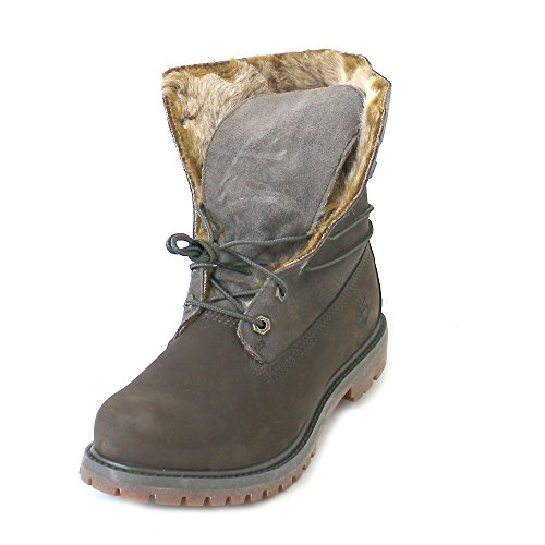 Timberland Faux fur Fold Down Canteen Nubuck CA19D5, Boots - 38 EU (Lace Boot Suede Faux Up)