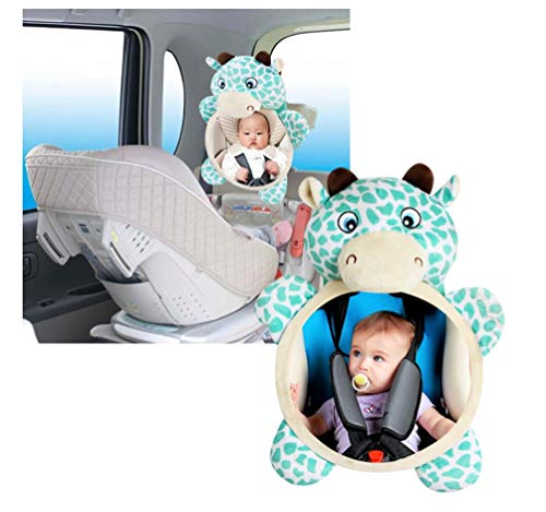 Babywagenspiegel für den Rücksitz – Shatterproof Baby Mirror for Car-Rear View Baby Car Seat Mirror to See Hear-Facing Säuglingen und Babys