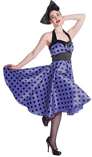 A DRESS purple/black polkadot XS ()