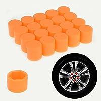 20pcs/set 19mm Auto coche silicona adaptador hexagonal cubo de rueda de coche neumáticos tornillo tapas protectoras polvo carcasa protectora Válvula de Neumático Tapón De Rosca