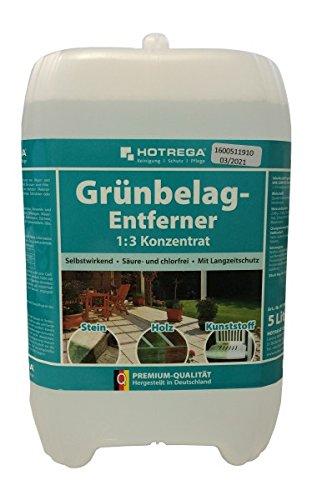 Hotrega Grünbelagentferner Super Konzentrat 5 Liter 1:3 - Säure & chlorfreier Spezialreiniger