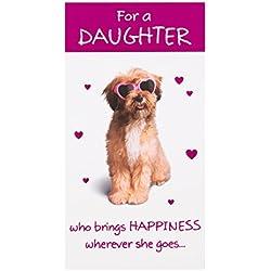 """Hallmark Geburtstagskarte für Tochter,""""Brings Happiness"""", englischer Text– mittelgroß, schmal"""