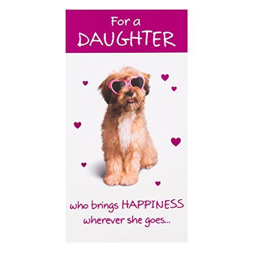 """Hallmark Geburtstagskarte für Tochter,\""""Brings Happiness\"""", englischer Text– mittelgroß, schmal"""