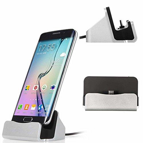 Micro USB Charing Dock, Superior ZRL® Desktop Aluminium Charge & Data Sync Lade Station Stand Halterung für Samsung Galaxy S7 Edge/S6/S5/S4, Note5/4/3 HTC, LG und mehr