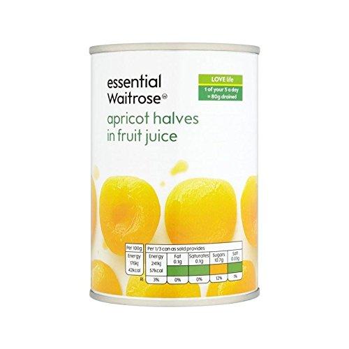 Moitiés D'Abricots Dans Le Jus De Fruits Fierté D'Été / 410G Essentielle De Waitrose