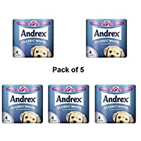 Andrex Toilet Tissue White, 4 Rolls Pack Of 5-010229 X 5 - Packaging May Vary