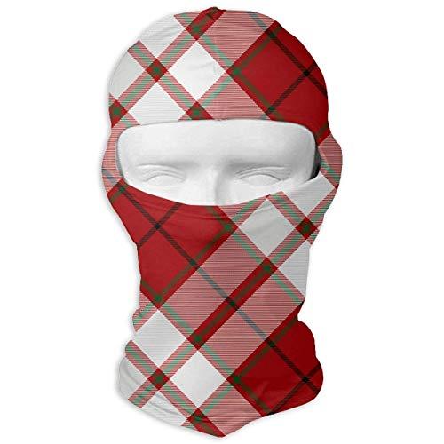 Sdltkhy Grid Stripe Men Women Balaclava Neck Hood Full Face Mask Hat Sunscreen Windproof Breathable Quick Drying White Unisex2 Adams Grid
