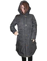 Kotak Sales Imported Stylish Women Winter Coat Warm Jacket Mid Length Overcoat Detachable Hood for Ladies Girls Size 2XL(Black)