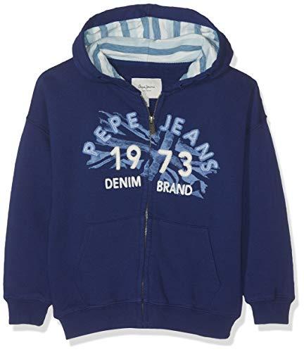 Pepe Jeans Jungen Agustin Sweatshirt, Blau (Steel Blue 563), 17-18 Jahre (Herstellergröße: 18) - Blue Jean Jumper