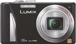 Panasonic Lumix DMC-TZ25GA-K 12.1MP Point and Shoot Digital Camera (Black) with 16x Optical Zoom, SD Card and Carry Case