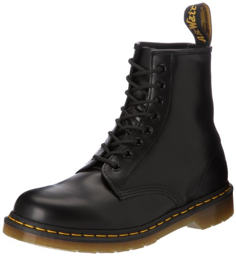 Dr. Martens Original 1460, Stivaletti Unisex Adulto, Nero (Black Smooth), 38 EU
