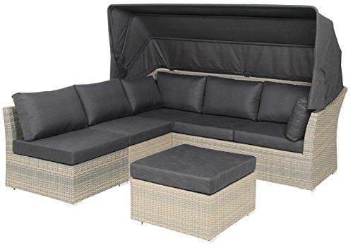 acamp Gartensitzgruppe Loungegruppe 4-teilig 57620 Modell sardinia Aluminium Gestell und Flex Mesh...