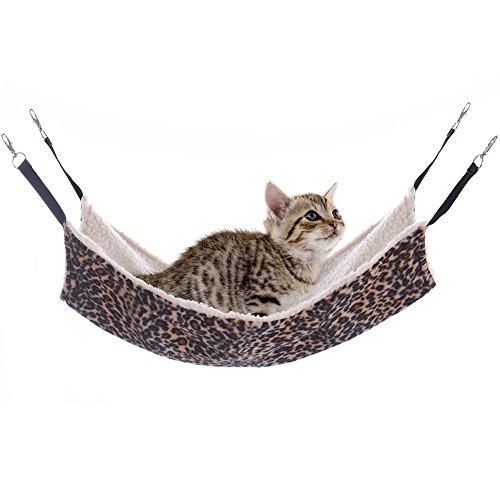 Letto-Gatto-Ciondolo-gzqes-mascotte-gatto-amaca-letto-Animal-Ciondolo-Cane-colore-leopardato