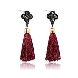 Große Quaste Ohrringe für Damen Rot Kristallschmucksachen