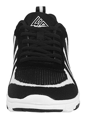 iLoveSIA Basket Homme Running Chaussure Noir&Blanc