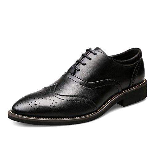 ailishabroy Klassischer Geschäfts-formaler Schuh der Herren Schnürsenkel Aus Schwarzem Leder Oxfords (38 EU) Große Softball-hose