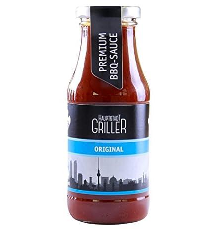 Hauptstadtgriller Original BBQ Sauce, Premium Grillsauce in Bio Qualität (1 x 240ml) (Bio-saison Salz)