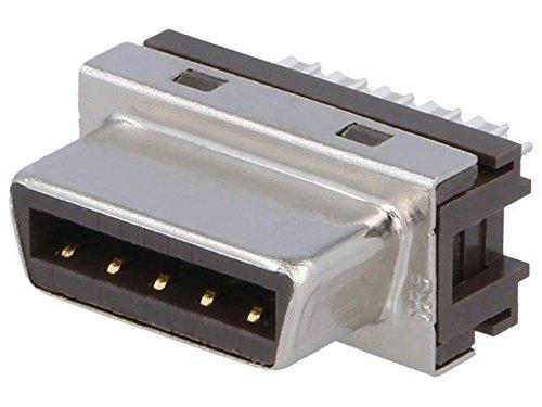 FI40B-2015S-50 Connector PCB-cable/PCB PIN15 plug female soldering HIROSE
