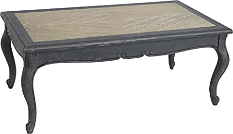 Table basse noire baroque vieilli