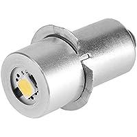 2pcs 1W P13.5S actualización de base bombilla LED bombilla de repuesto de repuesto linterna antorcha LED kit de conversión bombilla para lámpara de socorro luz de trabajo de emergencia (4.5V)