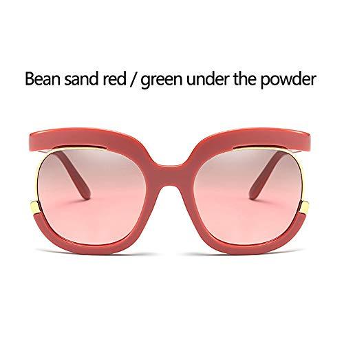 JZWX SonnenbrilleEuropa und die vereinigten Staaten Big Box Gesicht Reparatur Sonnenbrille persönlichkeit Spiegel fuß Flut Sonnenblende,F